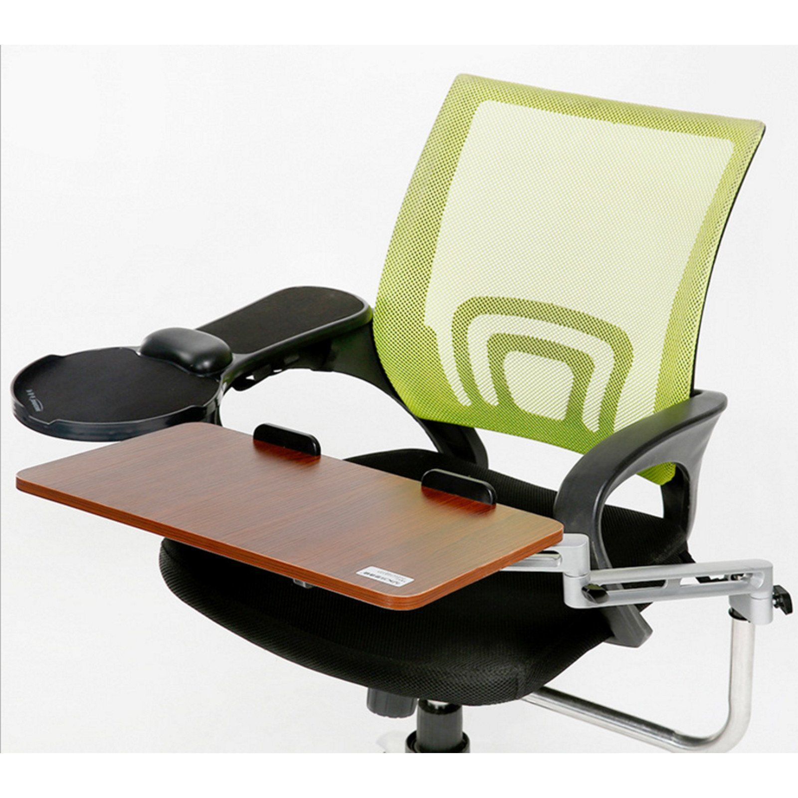 chair computer stand wooden adirondack chairs lowes ergonomic mount laptop keyboard mouse tray system