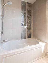 brilliant...built in bathtub shelves