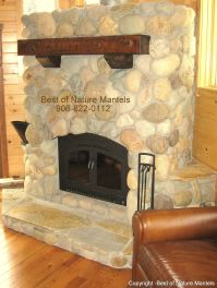fireplace mantels | wood fireplace mantels, log mantel ...