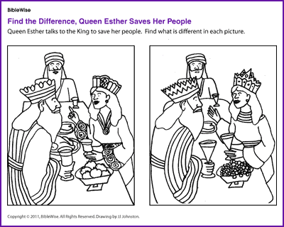 Find the Difference (Queen Esther)- Kids Korner