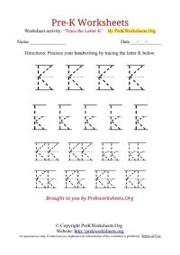 Pre-K Tracing Worksheet K | Little People | Pinterest ...