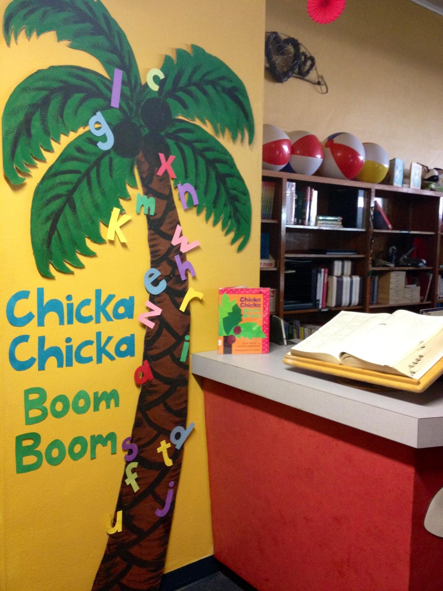 Chicka Chicka Boom Boom Tree Painted On Refrigerator Box
