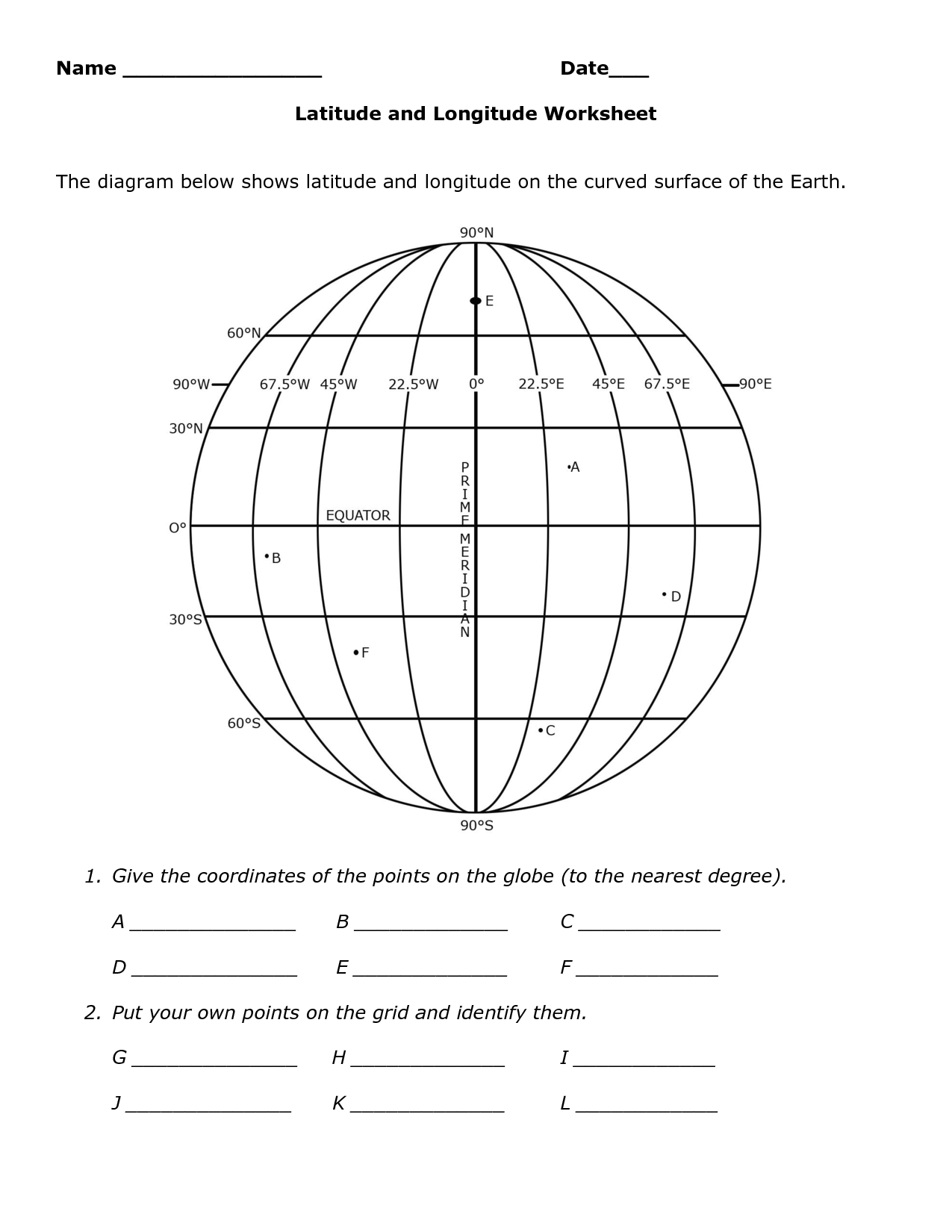 Worksheet Latitude And Longitude Practice Worksheets Grass Fedjp Worksheet Study Site