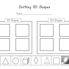 Sorting 3d Shapes Venn Diagram Pickup Wiring By Attributes Worksheets For Kindergarten