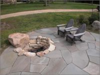 Sunken Natural Stone Fire Pit | Natural Stone Fire Pits ...