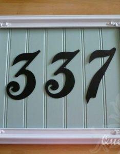 creative diy house numbers ideas also rh pinterest