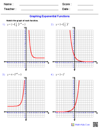 Graphing Exponential Functions Worksheets | Math-Aids.Com ...