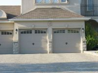 Molding and Keystones over garage doors