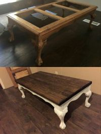Redo coffee table with wooden top instead of glass | Home ...