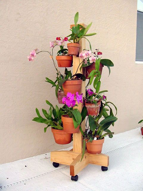 DIY Idea For Designing Vertical Container Gardens With Orchids