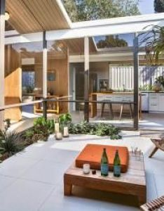 Eichler atrium and courtyard picture ideas gallery for updating or remodeling the of your mid century modern home also pinterest rh