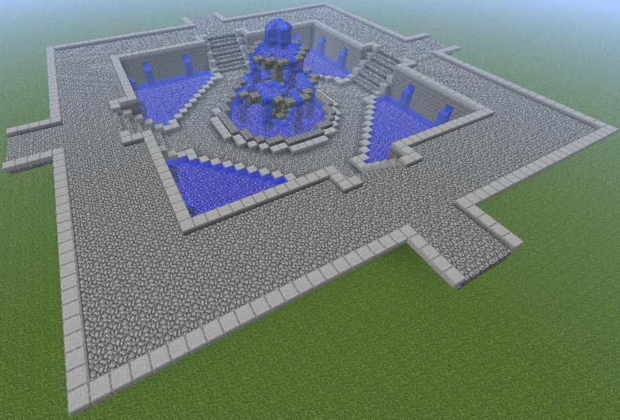 Fountain For Spawn Area Minecraft Inspiration Pinterest