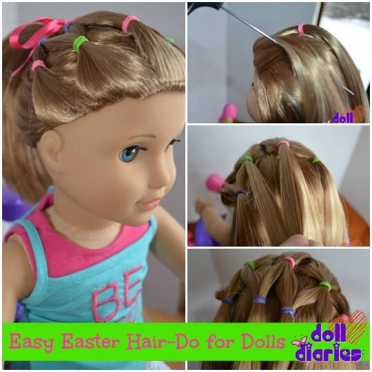 Easy Easter Hair Do For Dolls Doll Diaries Pinterest Veil