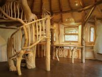 Cob and tree trunk spiral staircase | Dream House ...