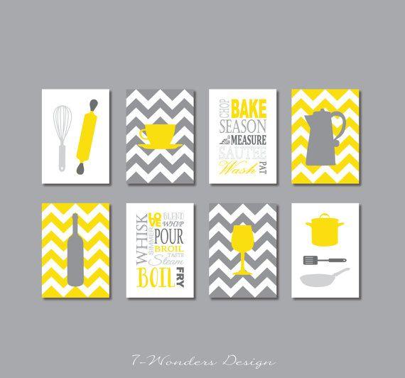 Kitchen Decor Yellow And Grey