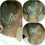 star design in haircuts fade