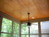 stained beadboard ceiling for back porch - our weekend ...