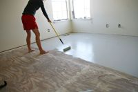 great idea for sub-flooring between ripping up carpet, and ...