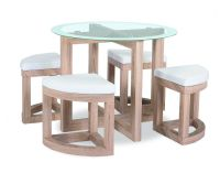 The Quarry Dining Set is a compact dining table and stool ...