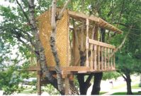 simple treehouse - free standing in backyard Welcome to EZ ...