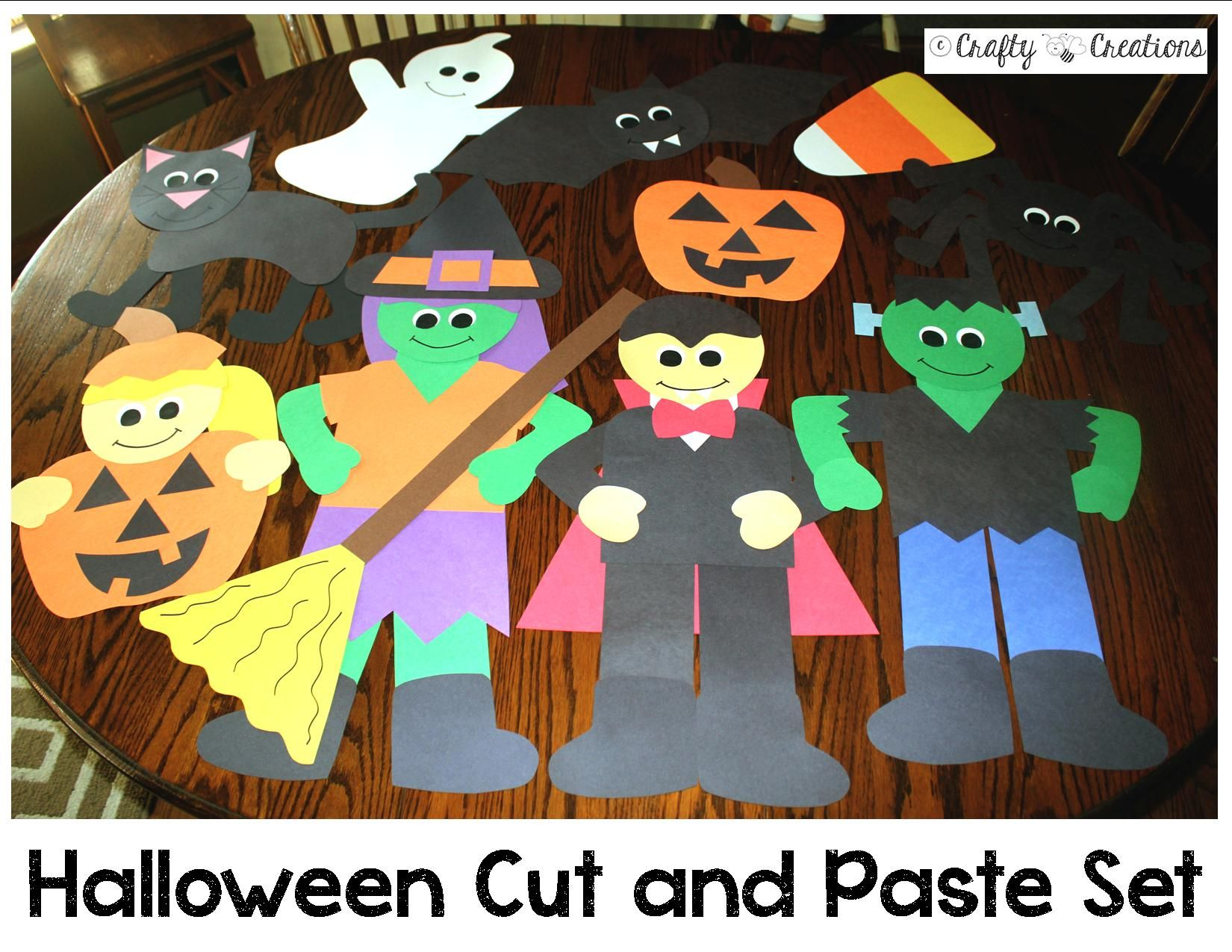 Halloween Cut And Paste Set
