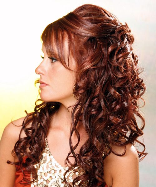 Latest Half Up Half Down Curly Hairstyles Hairstyle Pinterest
