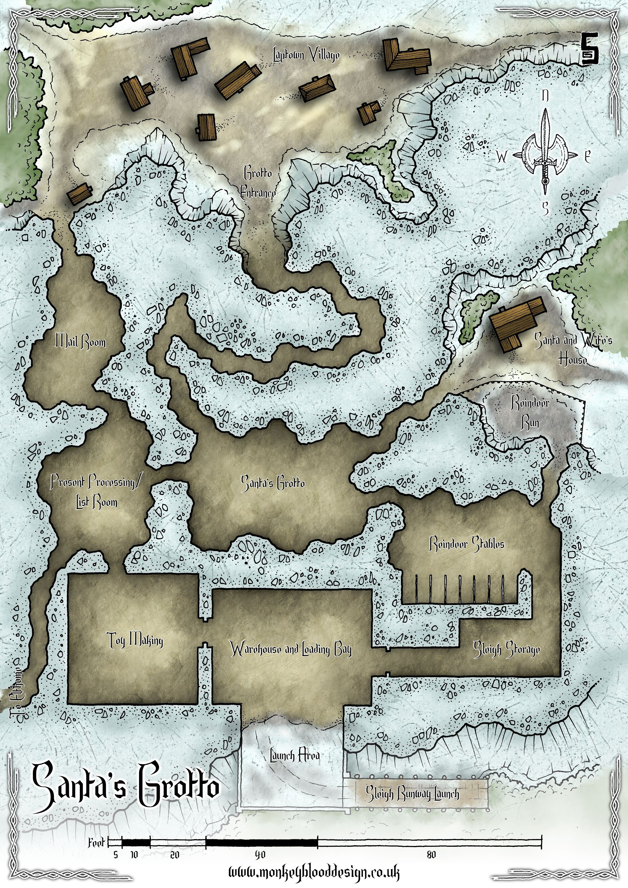 Dragons And Workshop Dungeons Map