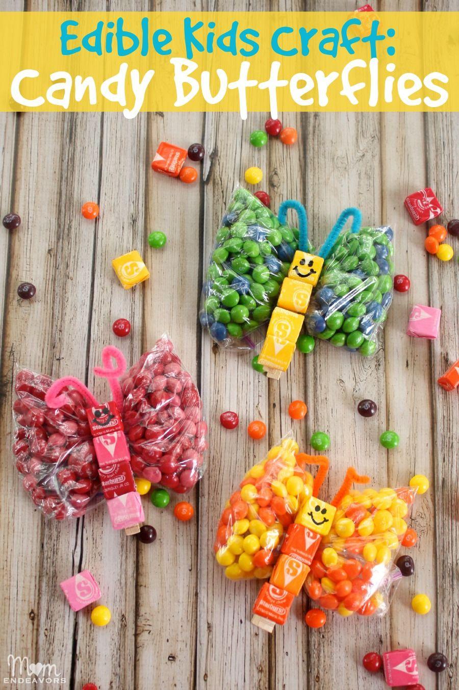 Sweet Edible Kids Craft Candy Butterflies Via