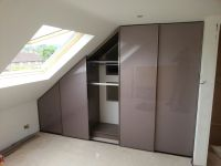 Bespoke Fitted Sloping Ceiling wardrobe with Modern ...