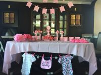 Baby shower set up ideas banners table set up for baby ...