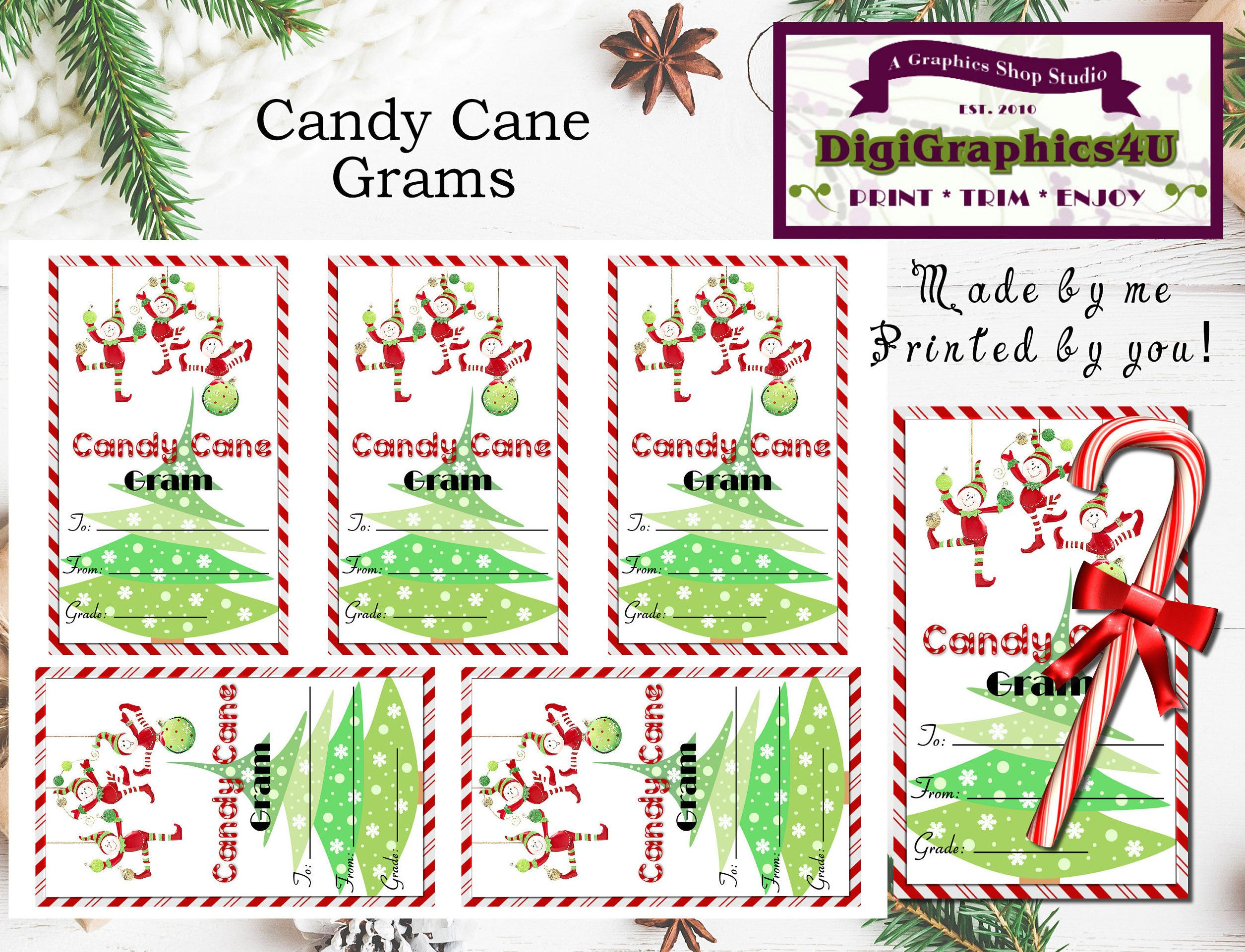 Grams Candy Cane Template