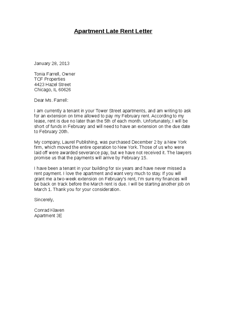 Apartment Late Rent Letter  Hashdoc  sample late rent notice  Real State  Pinterest