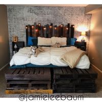 King Size Pallet Bed and Headboard - DIY Rustic Industrial ...