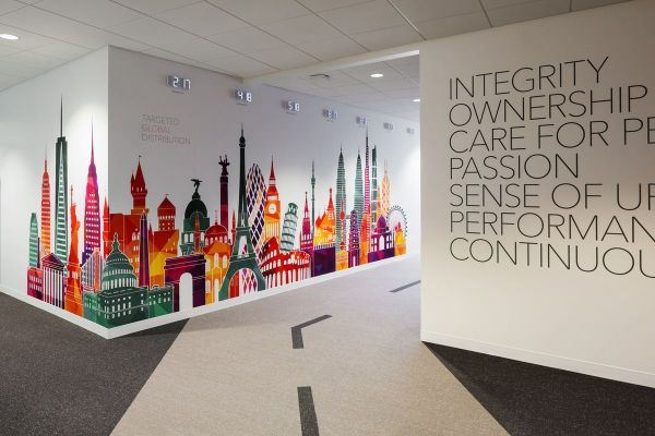 Wall Graphic Design Corporate Office
