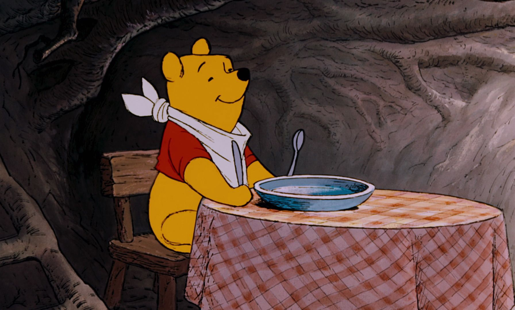 Winnie The Pooh Is Getting Ready To Eat Some Honey