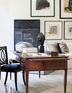 Gallery wall in an office also home pinterest dolce vita rh