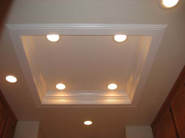 replace fluorescent light fixture in kitchen inexpensive countertops for kitchens more ceiling lighting ideas | crown molding with ...