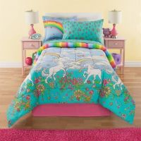 Amazon.com: 6 Piece Girls Unicorn Rainbow Comforter Set
