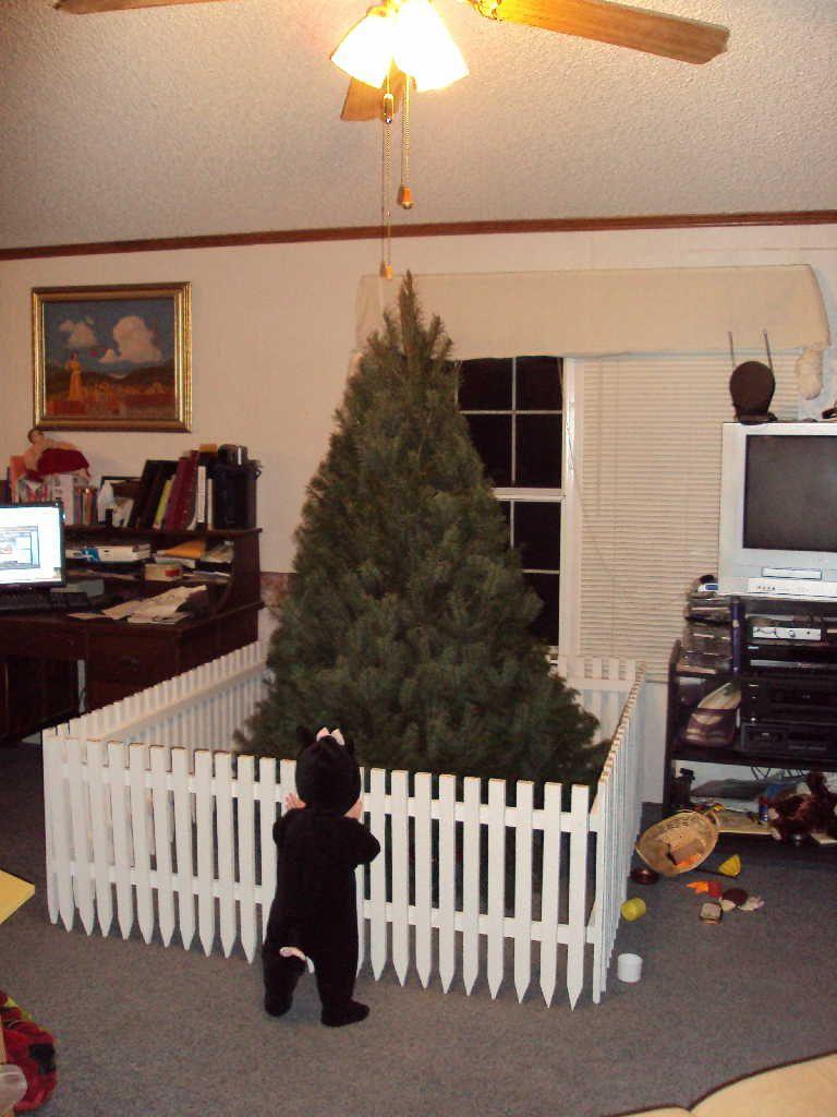 Baby Gate Around Christmas Tree