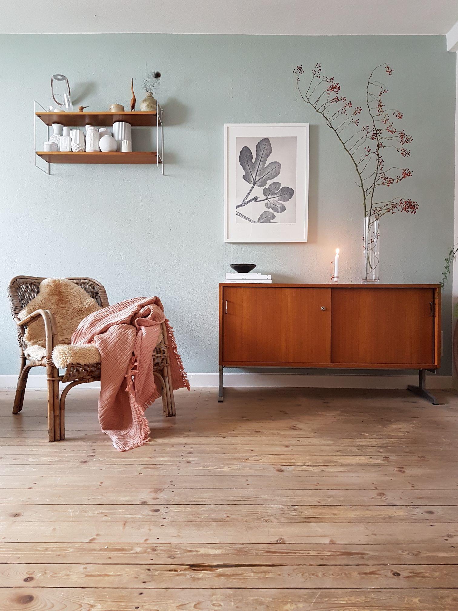 Midcentury Wohnzimmer mit tollen Farben  Interior  Wohnzimmer  Pinterest  Wohnzimmer