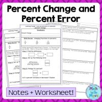 Percent Change and Error - Notes, Task Cards, and a ...