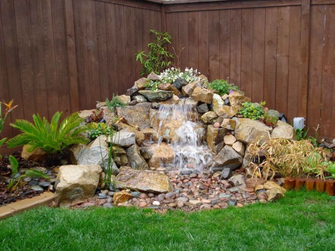 Natural small pondless waterfalls advanced waterscape
