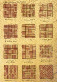 Different types of floor design with bricks. Via Welke ...
