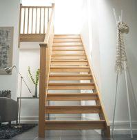 Square Oak Open Riser staircase   For the Home   Pinterest ...