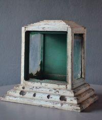 Antique Wood Buddhist Statue Shrine Cabinet Case Vintage ...