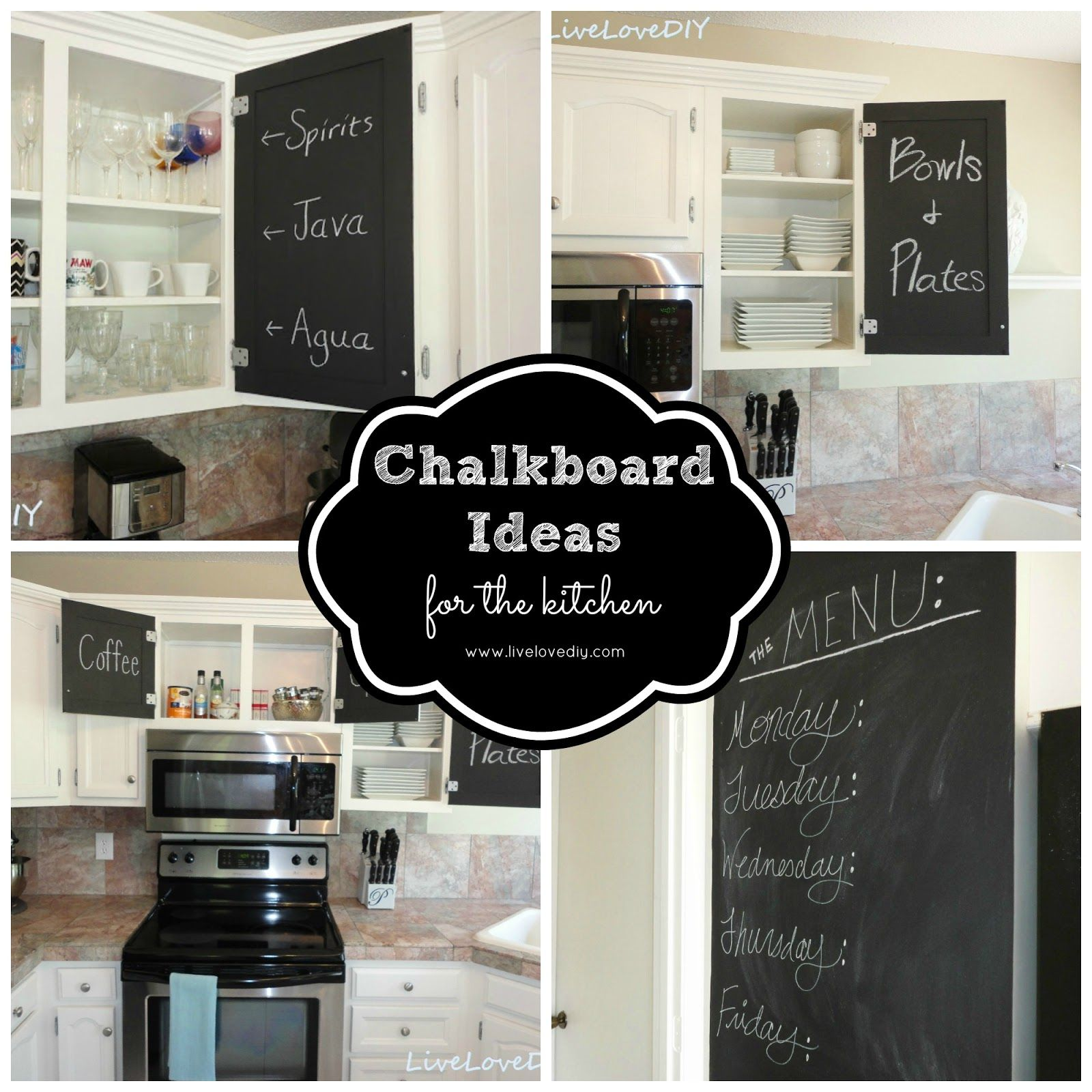 chalkboard in kitchen cabinet painting contractors creative ideas for using paint your