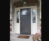 Doors: Fiberglass Front Door With Sidelights And ...