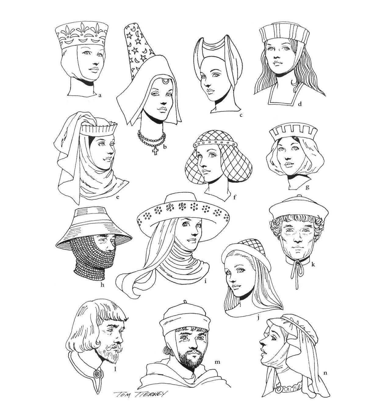 Jonkvrouwen en ridders uit de middeleeuwen. Te gebruiken