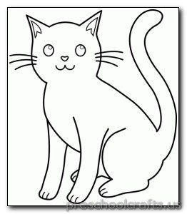 Cat Coloring Pages For Preschool