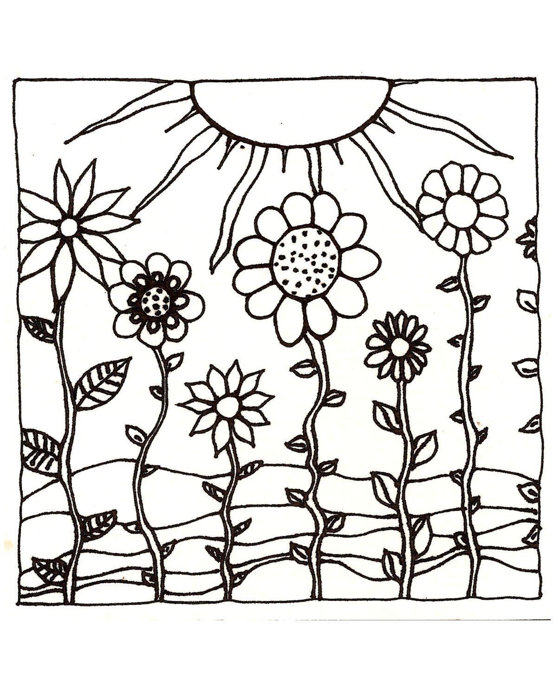 Download PrintableAdult Coloring Page digital hand drawn